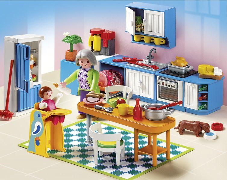 5329 Κουζίνα! Playmobil, Herrenhaus küche und Einbauküche