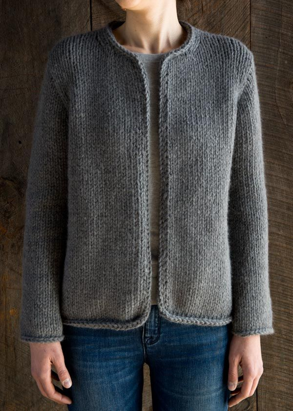 How happy I would be if I could knit this  classic-knit-jacket-600-25 Purl  Soho 0ddd4e6bce92