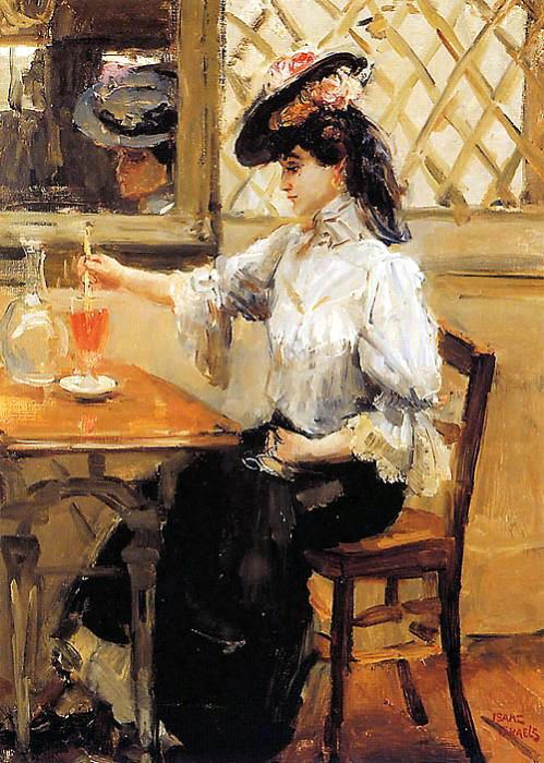 Young Girl Refreshing Isaac Israëls (February 3, 1865 – October 7, 1934) Dutch painter associated with the Amsterdam Impressionism movement