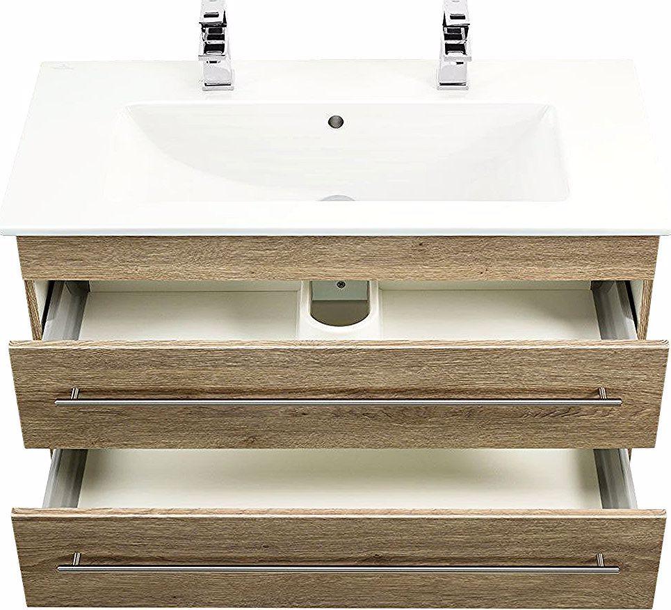 Apercu Meuble Sdb Avec Vasque De Villeroy Boch Venticello 100 Cm Double Decor Chene Home Decor Decor Sink