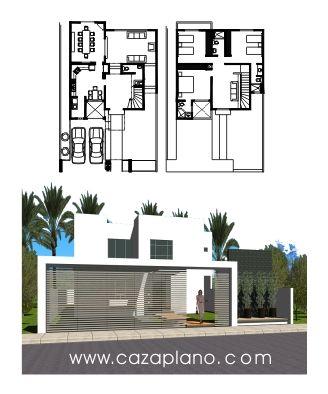 Planos de casas minimalistas casas in 2019 planos de for Modelos de casas minimalistas de dos plantas