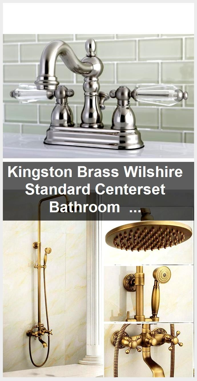 Photo of Kingston Brass Wilshire Standard Centerset Bathroom Faucet with Drain Assembly | Wayfair,  #A…