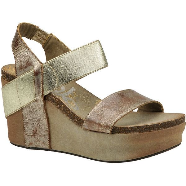 0456ba7575b OTBT Bushnell Women s Gold Sandal ( 125) ❤ liked on Polyvore featuring shoes