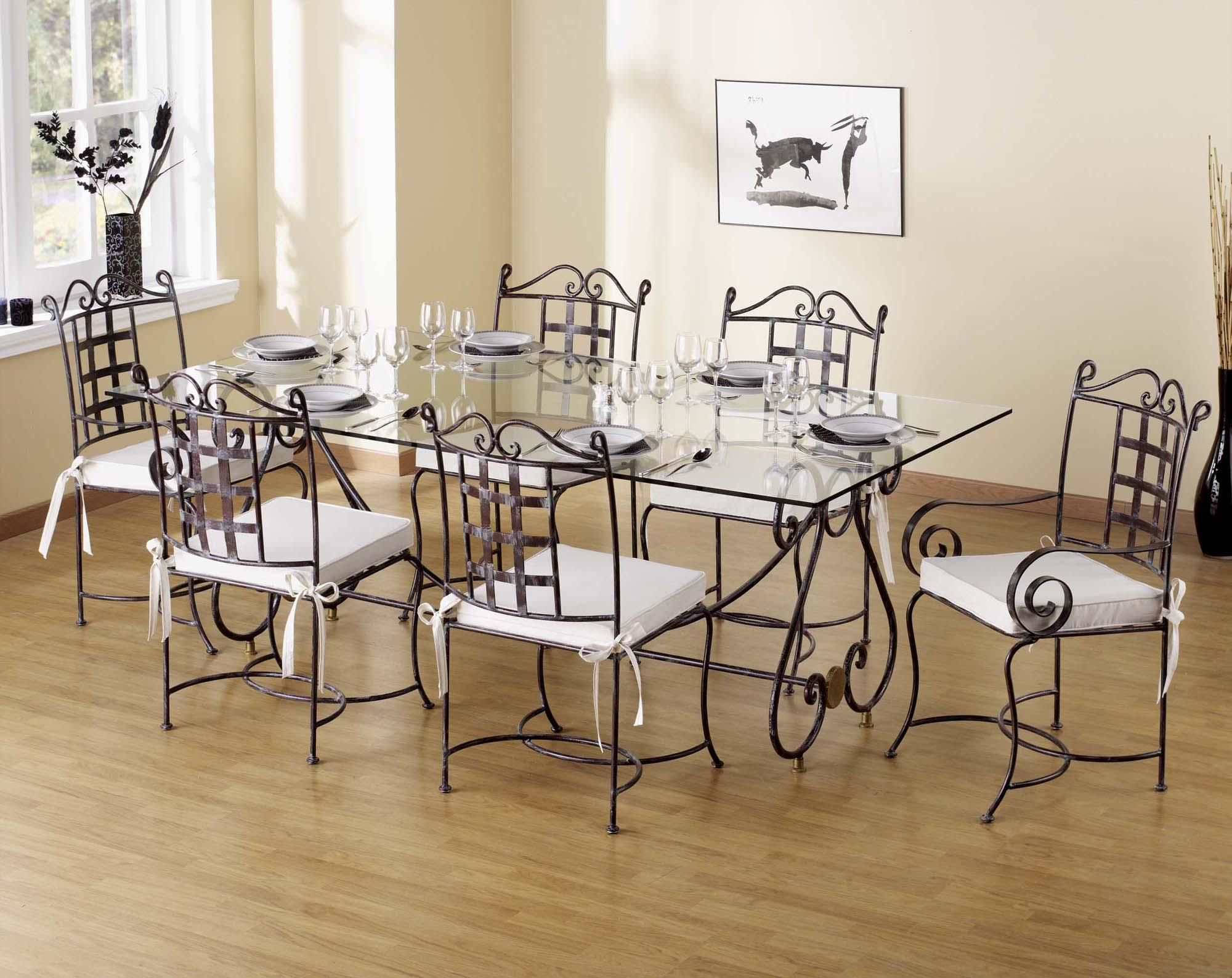 Fer Forge Prestige Dining Table Wrought Iron Furniture Small Space Interior Design