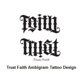 trust faith ambigram t a t t o o s pinterest ambigram tattoo tattoo designs and tattoo. Black Bedroom Furniture Sets. Home Design Ideas