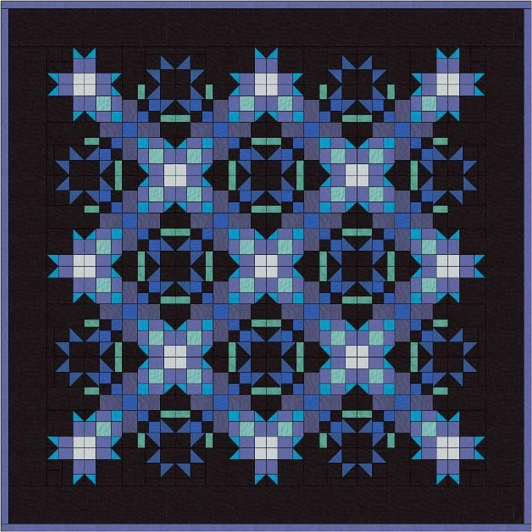 (7) Name: 'Quilting : Hoar Frost