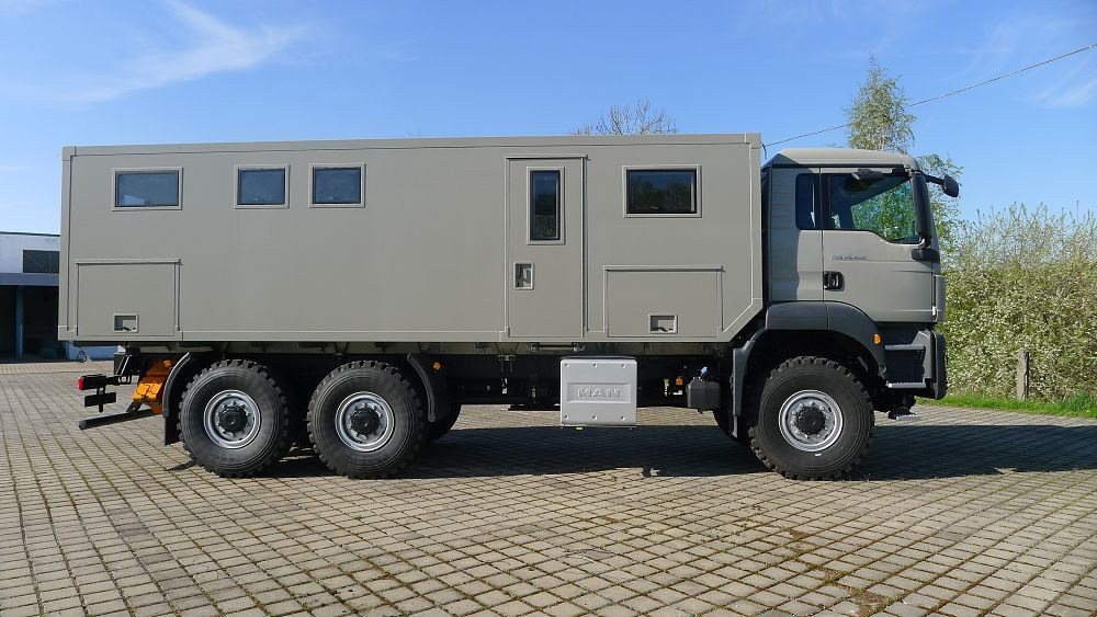 Man Tgs 6x6 Offroad Travel Mobile Expedition Truck Expedition