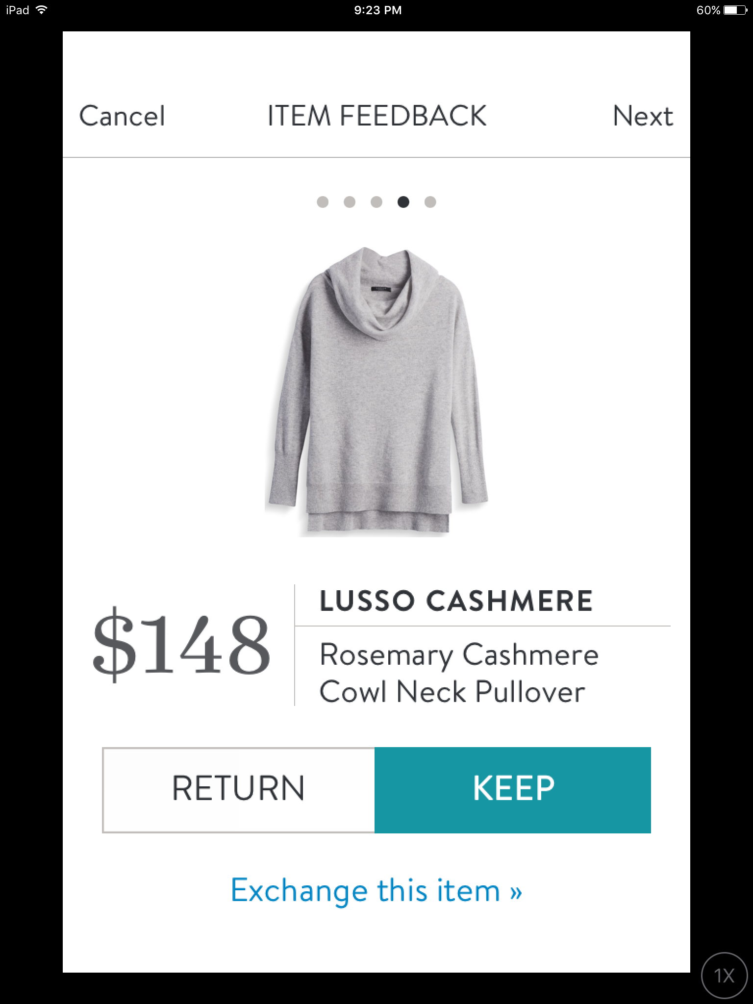 Lusso Cashmere Rosemary Cashmere Cowl Neck Pullover Stitch