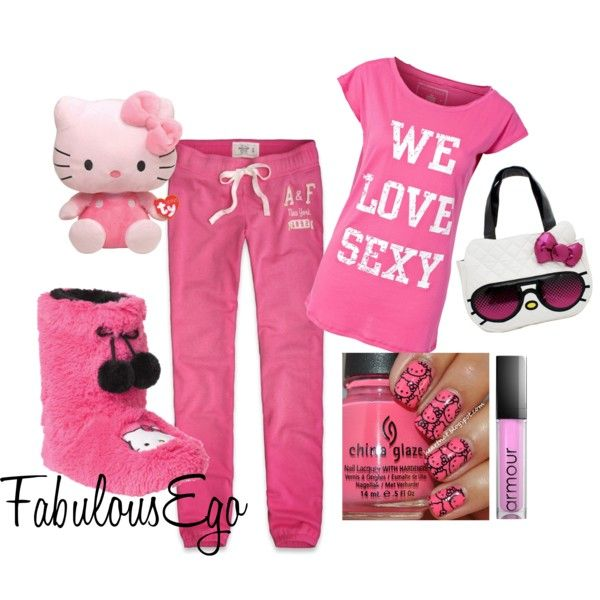 af4b47912 We Love Sexy Kitty [ Pajama Party ] - Polyvore | Clothes | Pajama ...