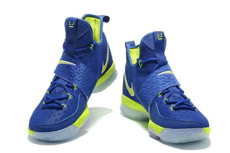 Cheap Priced 2018 LeBron 14 XIV Shoes 2018 Hyper Blue Flash Lime ... 38128a25d