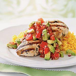 100 Easy Chicken Recipes | Cilantro-Lime Chicken with Avocado Salsa | CookingLight.com