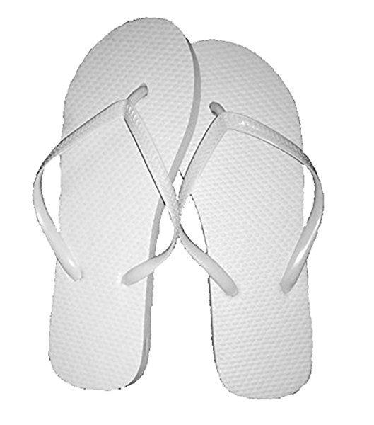 1820efb7a25 Wholesale Ladies 36 Pairs Solid White Flip Flops