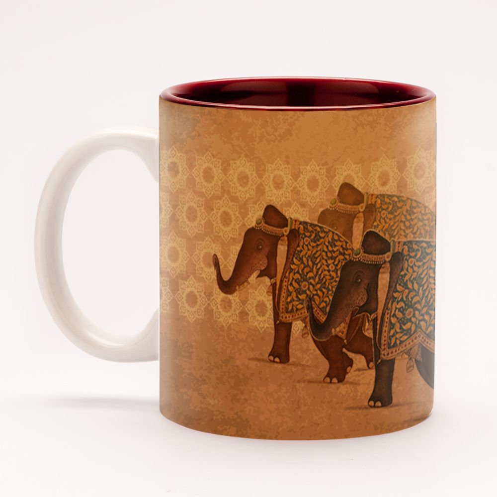 3 Elephants Mug Ancient Indian Folklore Is Laden With Tales Of