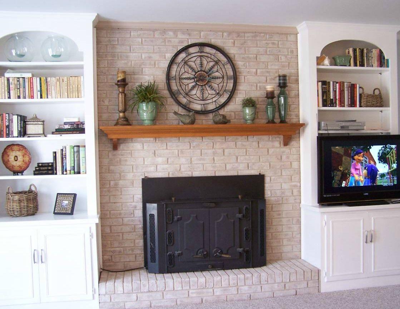 Fireplace Decorating Fireplace Mantel Shelves An Easy Makeover Fireplace Mantel Decor Fireplace Mantels Fireplace Mantel Shelf Diy
