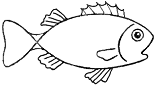Drawing A Cartoon Fish With Easy Sketching Instructions