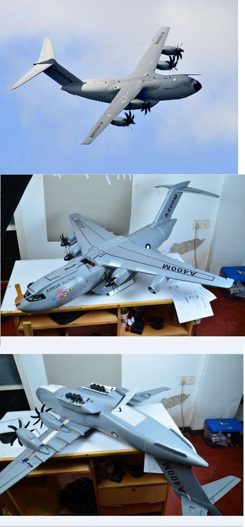 RC Plans Templates and Manuals 182212: Airbus A400m Scratch