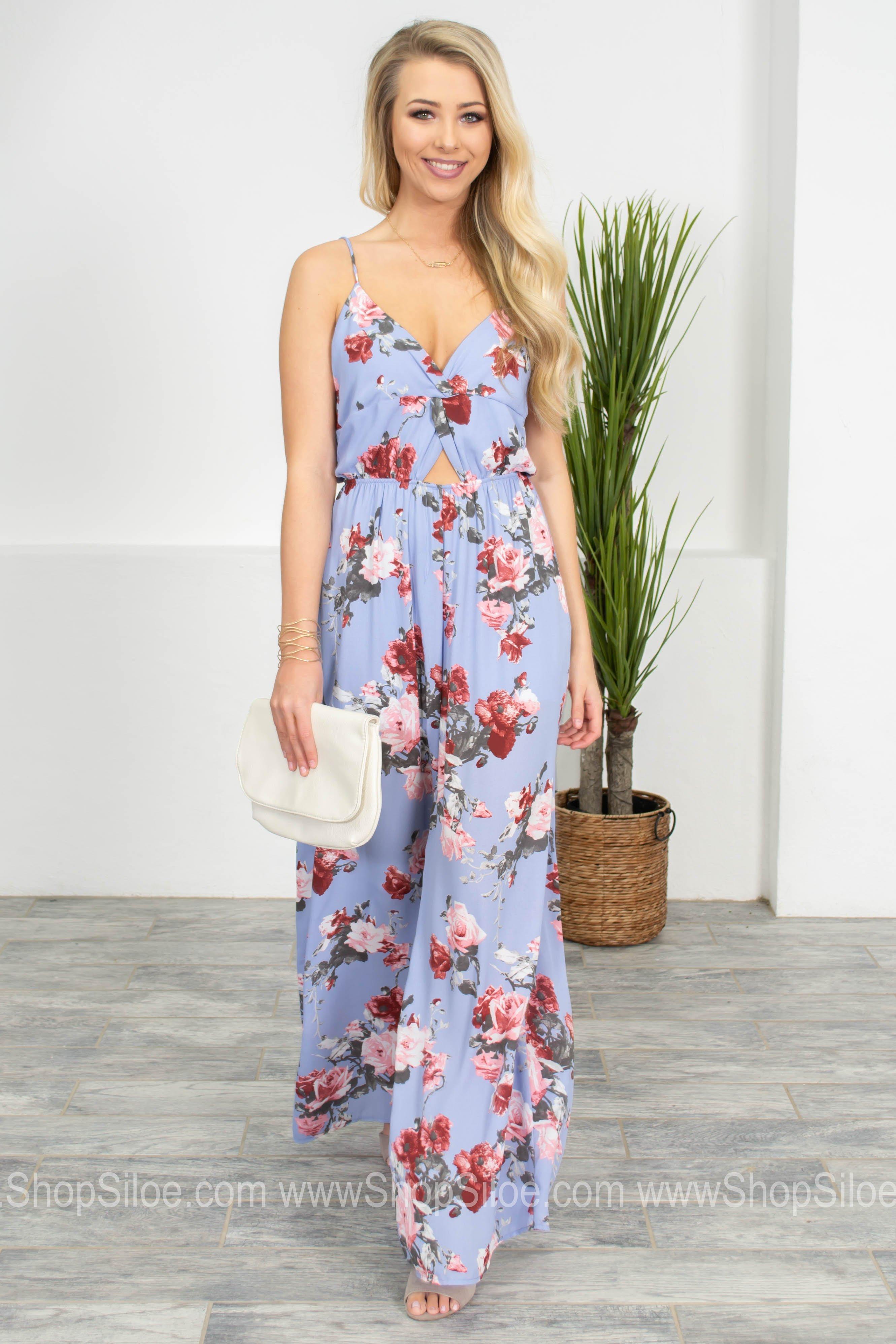 1f7e65dfe06 Periwinkle Blue Floral Jumpsuit