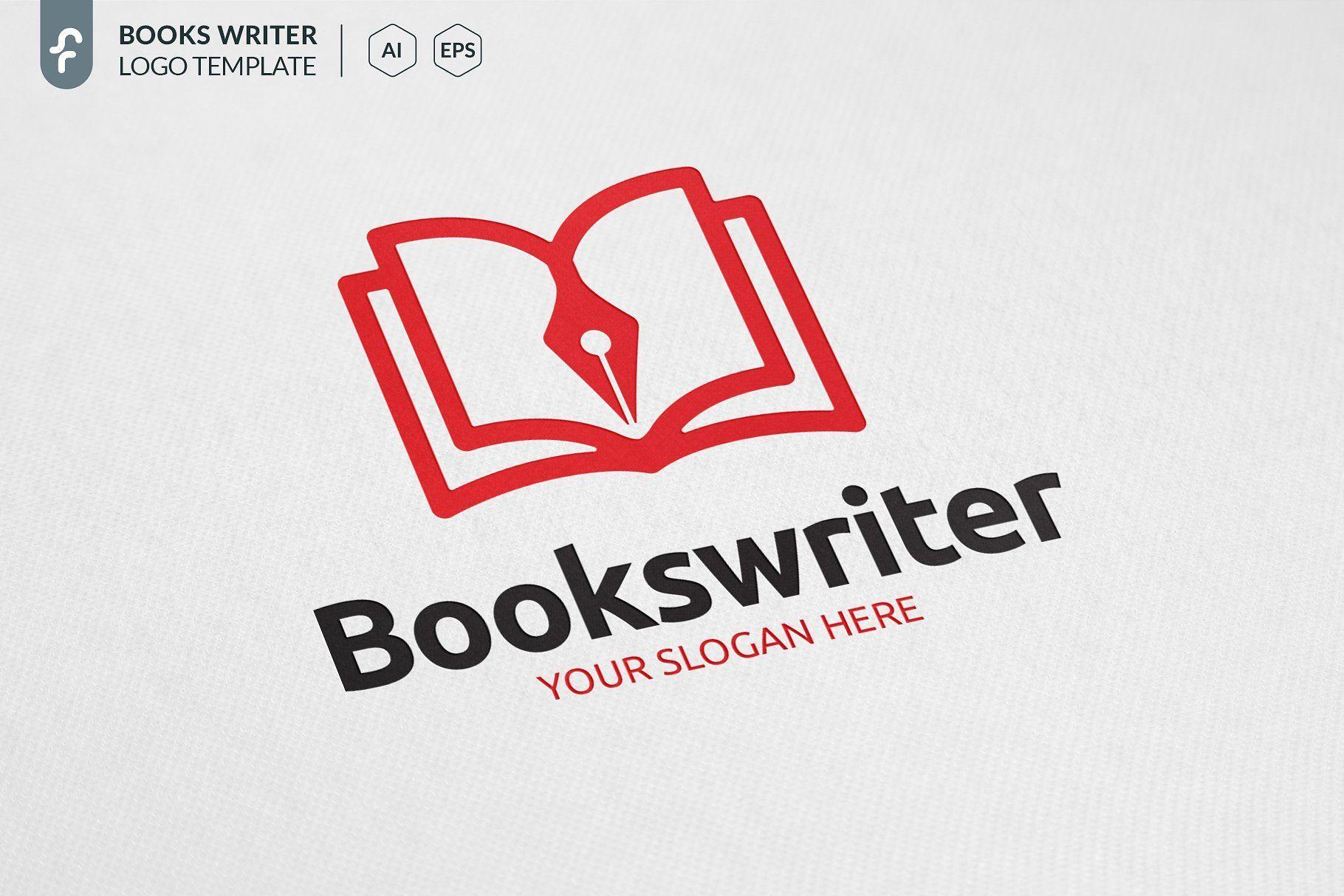 Books Writer Logo Book Logo Writer Logo Book Design