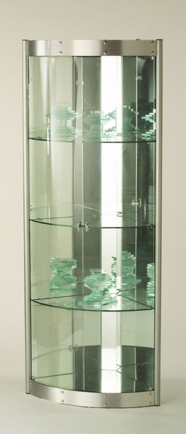 Corner curio cabinet too modern for living room modern - Glass corner shelf for living room ...