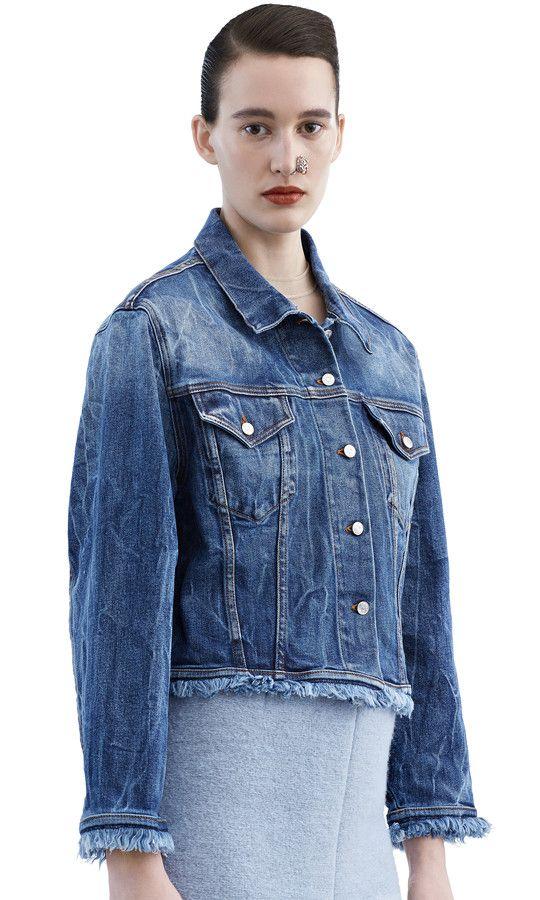 333d5ebdef8 Tram fringe denim jacket in a light vintage bleach wash  AcneStudios   AcneStudiosFW15