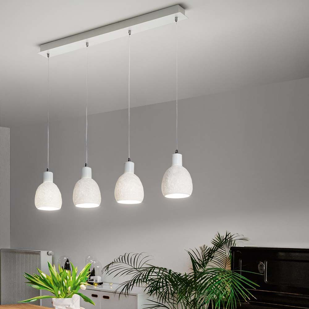 Pendelleuchte Marina In Weiss E27 4 Flammig Fabas Luce 3534 49 102 In 2020 Pendelleuchte Beleuchtung Decke Led Lampe