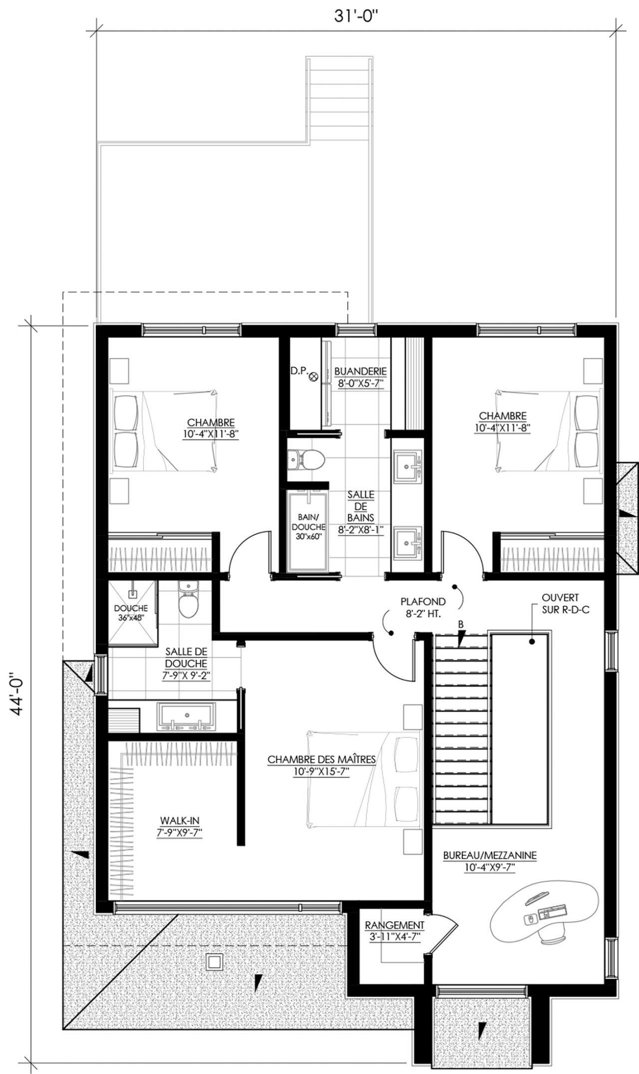 Plan de maison Ë_113 | Leguë Architecture