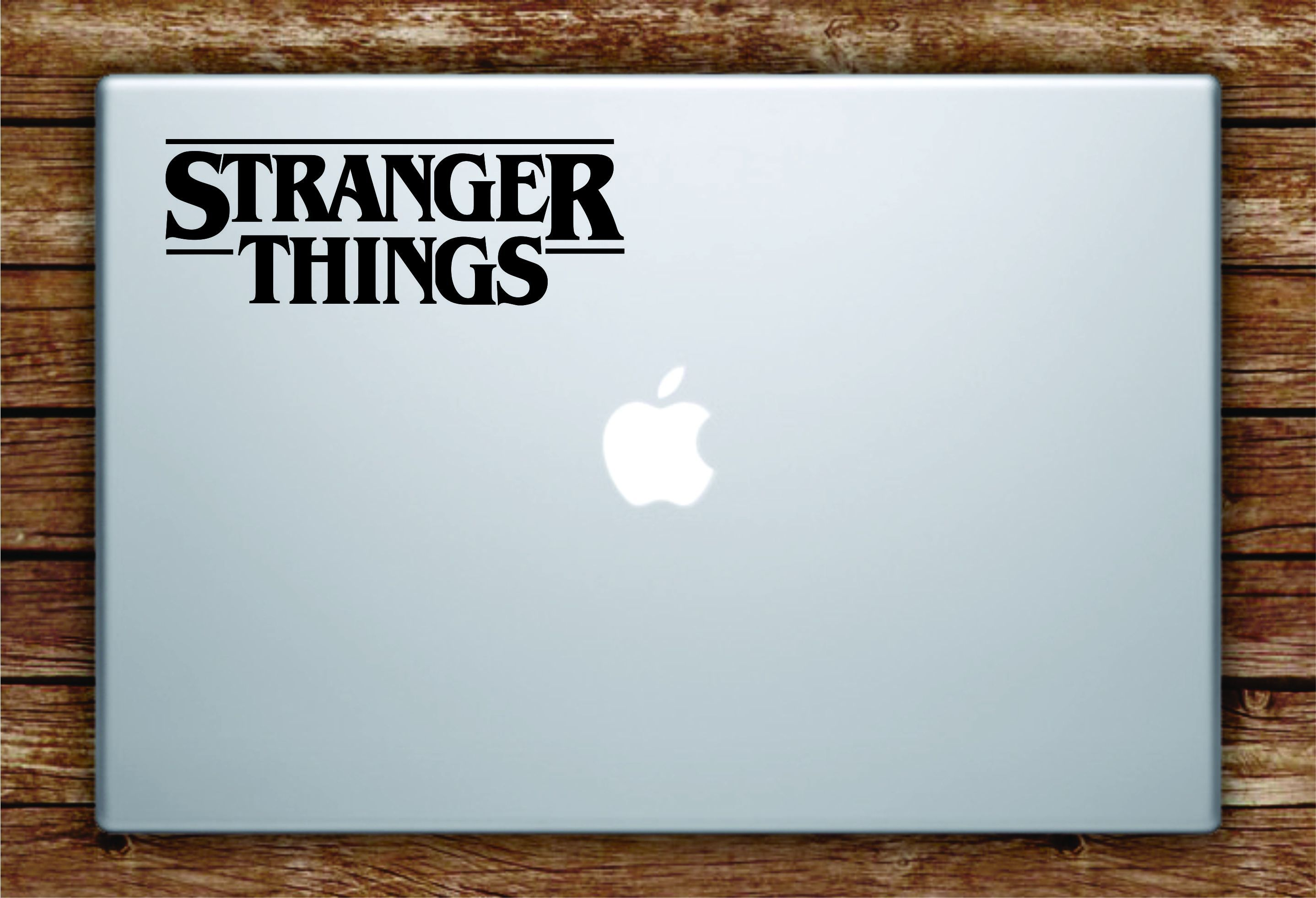 Stranger things logo laptop apple macbook quote wall decal
