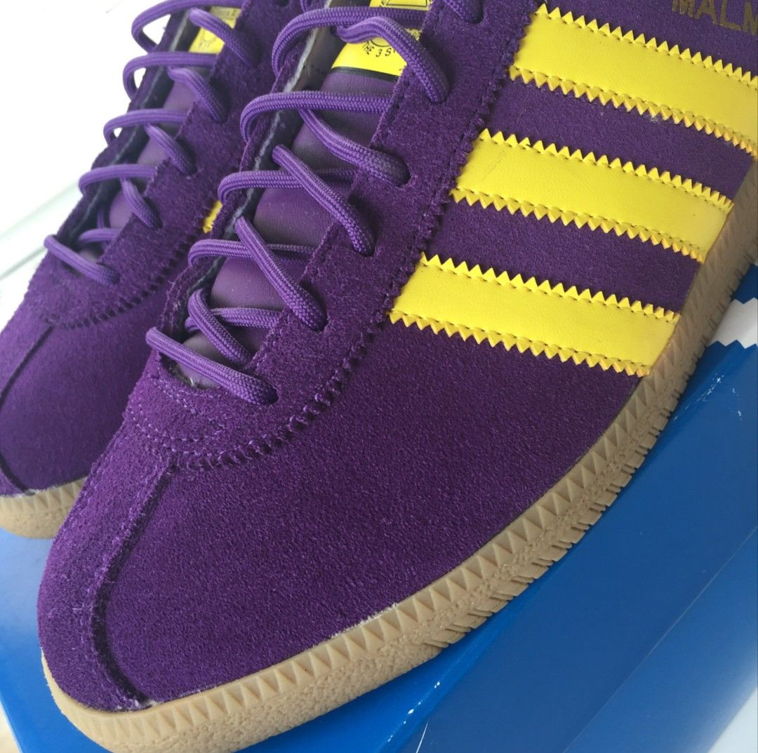 f50c815792b9 Close up of the purple Malmo - quality.. Adidas Og