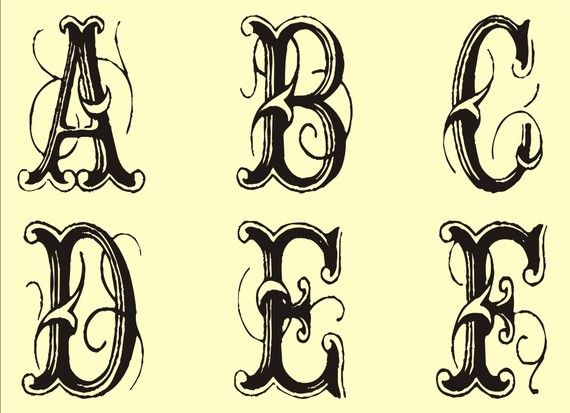 Free french stencils edition collection sabrina for Fancy alphabet letter templates