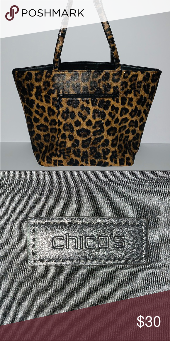 b40a9ce84cb0 Chico's Leopard Women's Tote Bag Brand New Fashionable Chico's Leopard  handbag Chico's Bags Cosmetic Bags &