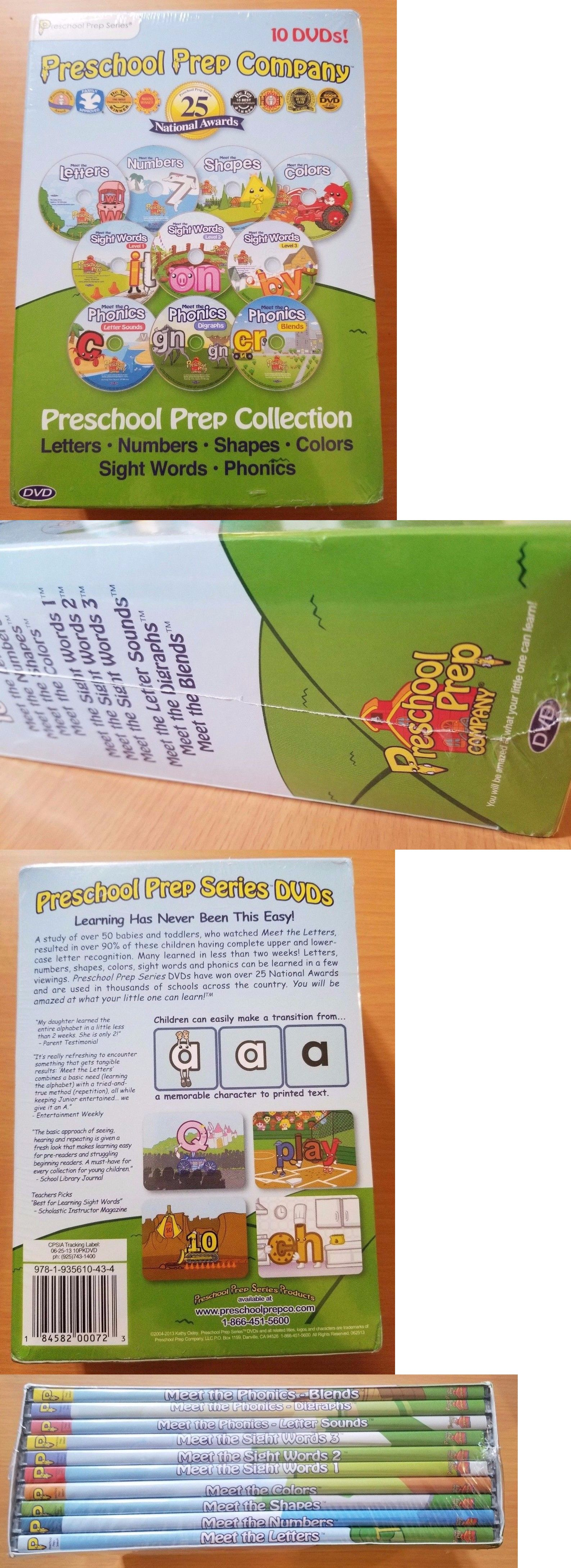 Preschool and Kindergarten 145938: Preschool Prep Collection 10 Dvds ...