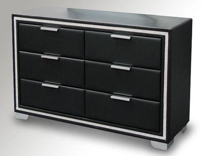 Premier Crystal Black Leather Bedroom Furniture At Archers Sleepcentre