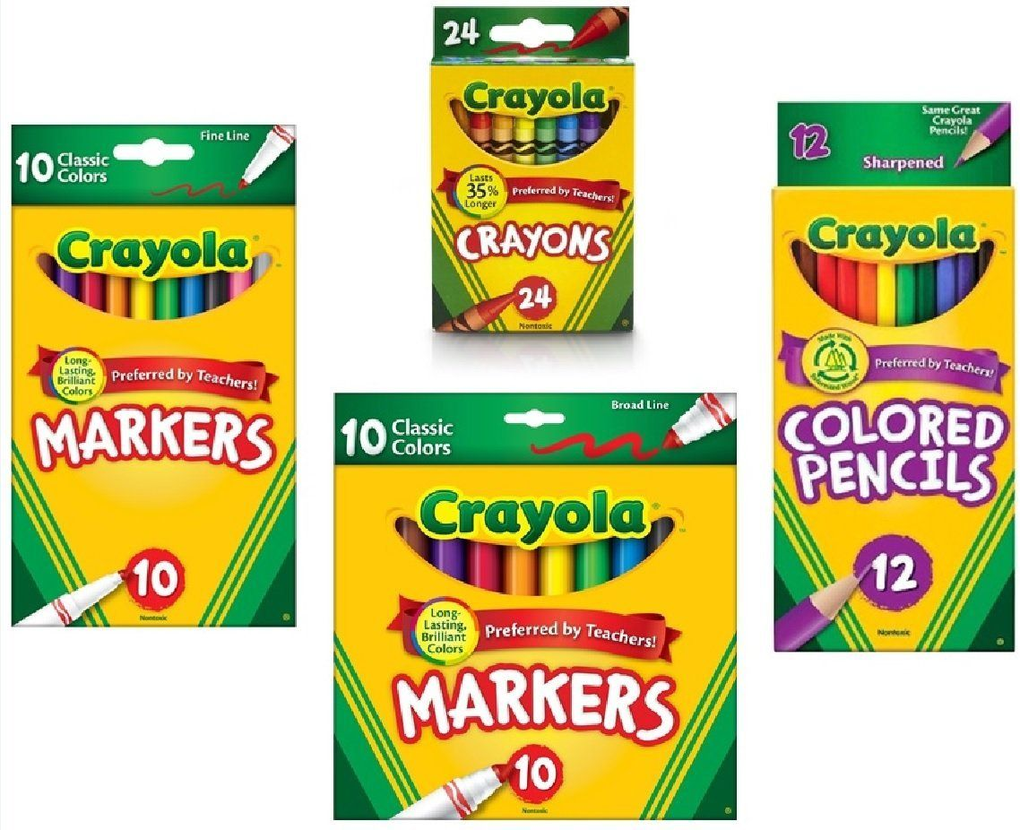 Amazon.com: Crayola Crayons (24 Count), Crayola Colored Pencils in ...