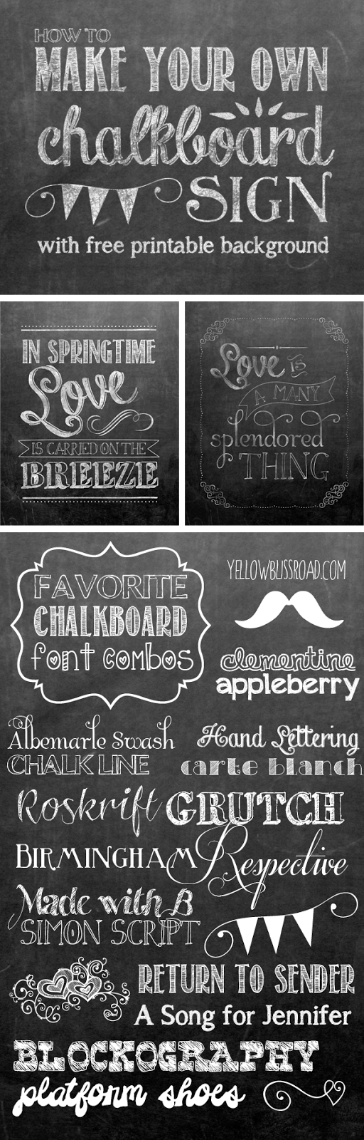 how to make your own printable chalkboard sign font combos door tips for making your own chalkboard sign chalkboard font combos and a printable