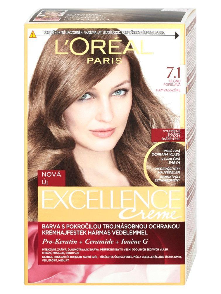 Permanentna Farba Loreal Excellence 7 1 Blond Popolava Dark Ash