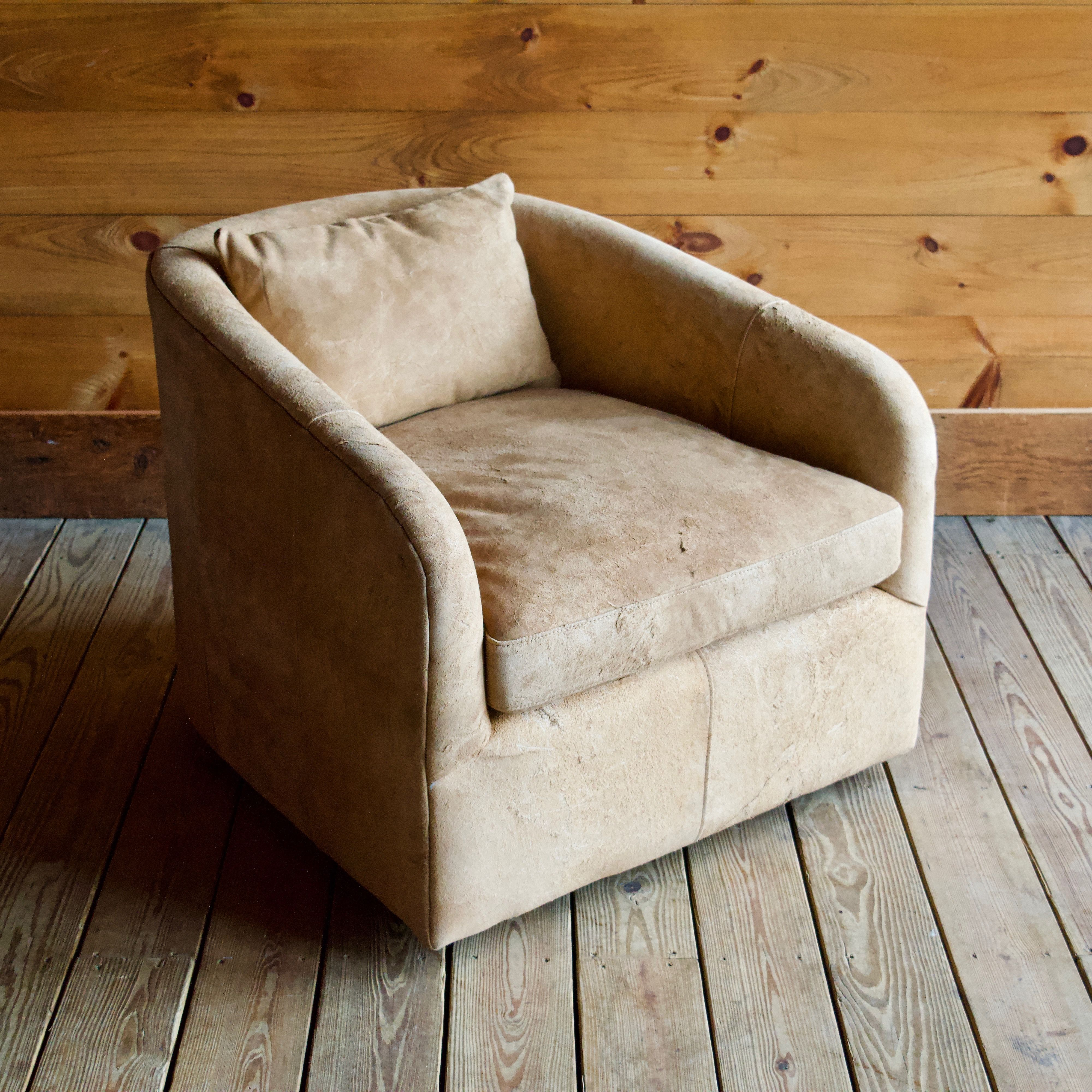 Fulton Suede Swivel Chair Rustic Leather Chairs Chair Rustic Chair