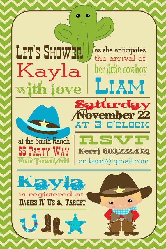 cowboy baby shower invitation cowboy by