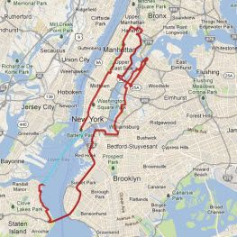 5 Boro Bike Tour Map Bike Tour City Bike Staten Island Ferry