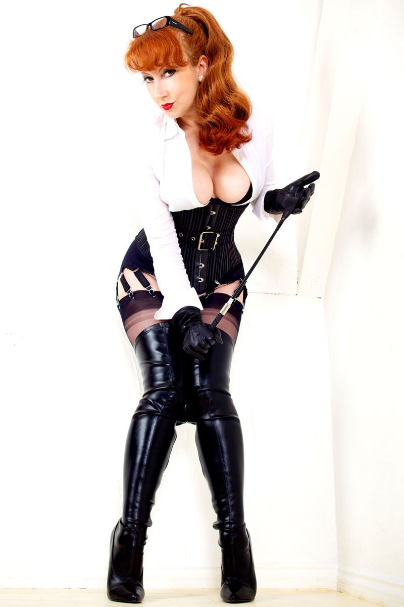 Agree with dominatrix leather in redhead mistress consider
