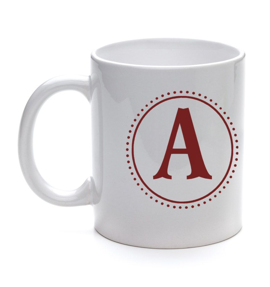 Monogram Coffee Mug $10.00,  Etsy.
