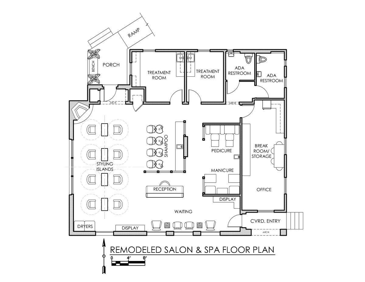 Sq ft salon floor plan google search spa interior design also ideas salons rh pinterest