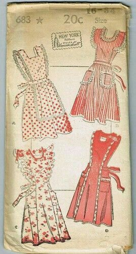 Vintage Kitchen Apron Crochet Pattern ~ 1940s
