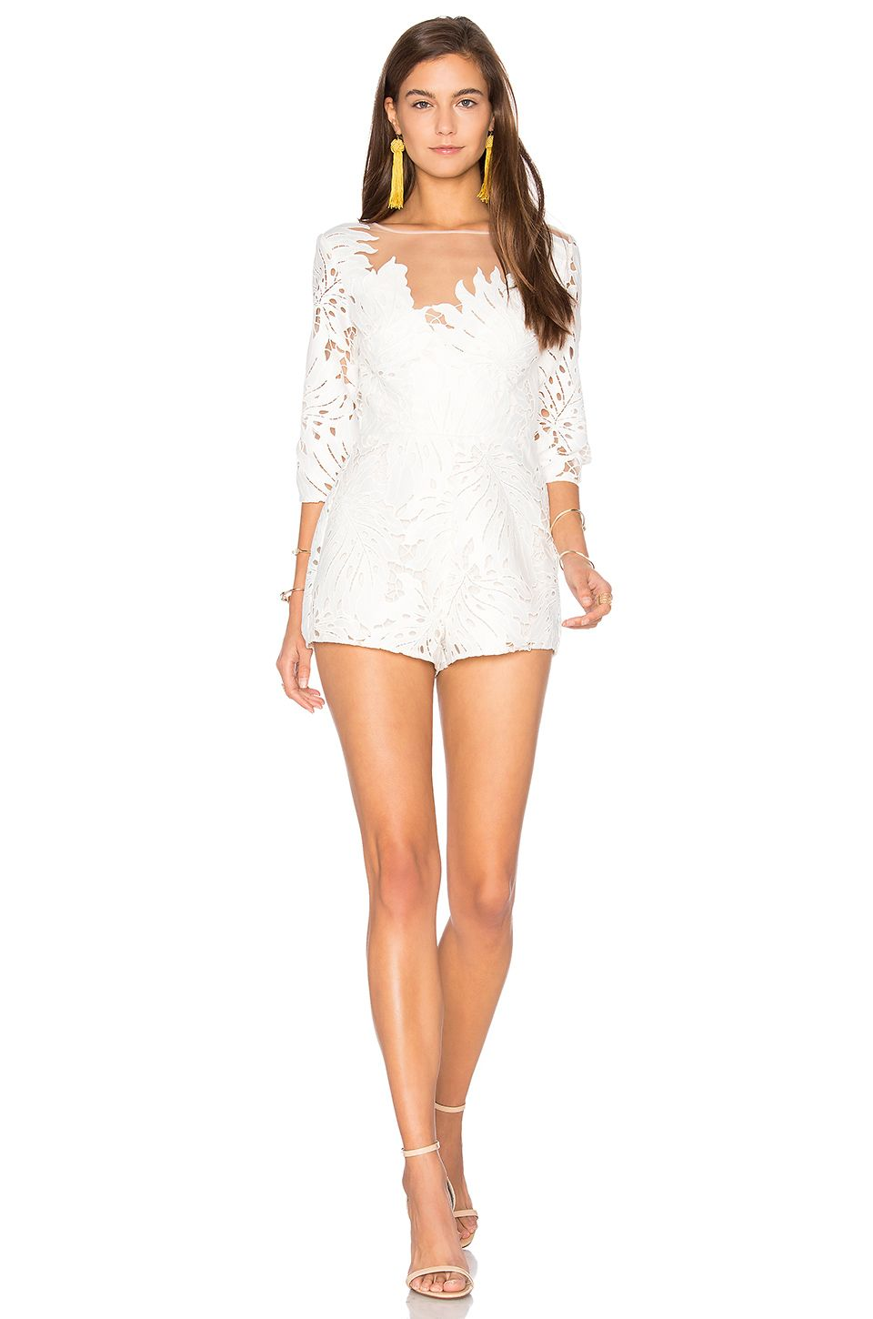 e0287d7e2a0 Alice McCall Rumours Playsuit in White