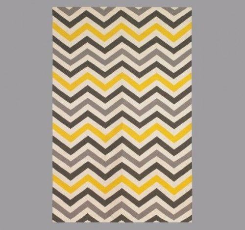Chevron Rug Yellow Grey Rug Rugs