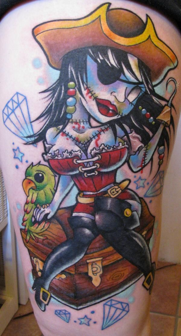 zombie pirate pin up tattoo pinups and tattoos pinterest tattoo. Black Bedroom Furniture Sets. Home Design Ideas