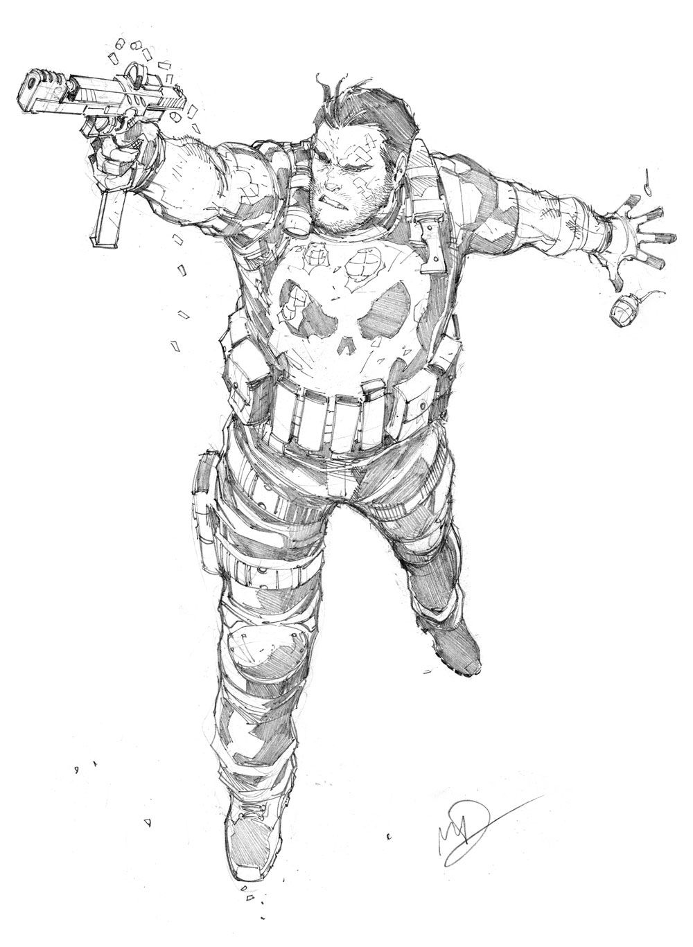 Punisher sketch by Max-Dunbar.deviantart.com on @DeviantArt | ARTIST ...