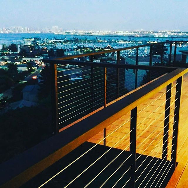 What a View! This Deck features our SDCR Ultra Slim Intermediate posts which are our lowest profile posts. Maximizing the properties gorgeous views while maintaining 100% code compliance! These Railings are secure and safe protecting these home owners from an 80ft drop! #sdcablerailings #sandiegohomes #pointloma #lifestyle #deck #decksafety #stainlessteel #cablerailings #pointlomalocals #sandiegoconnection #sdlocals #sandiegolocals - posted by San Diego Cable Railings…