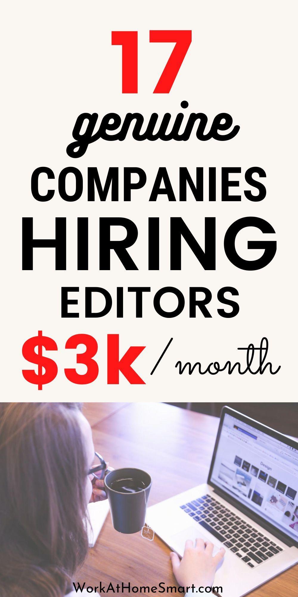 17 Online Editing Jobs 2020 The Best Freelance Editing Jobs In 2020 Editing Jobs Online Editing Jobs Freelance Editing