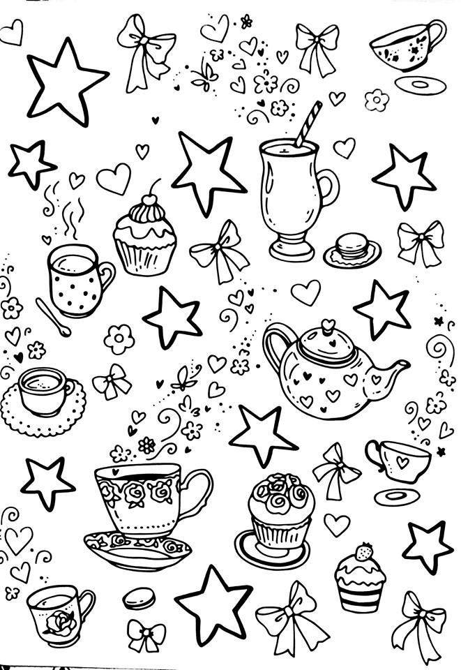 Pin By Melissa D On Coffee ☕️ Coloring Sheets Food