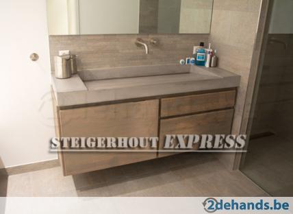 Prachtige badkamer meubels van steigerhout nu super sale te koop